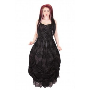 KIARA LONG ROUCHED DRESS