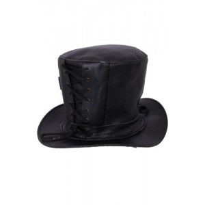 GOLDENSTEAM LEATHER TOP HAT