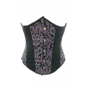 SATIN AND BROCADE UNDERBUST CORSET