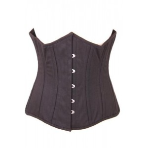 BLACK CANVAS UNDERBUST CORSET