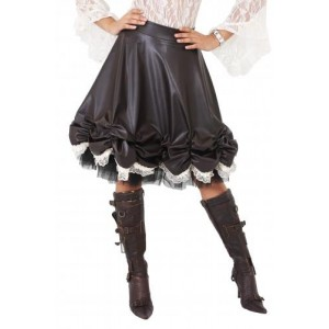AGGY LAYER ROUCHED STEAM SKIRT