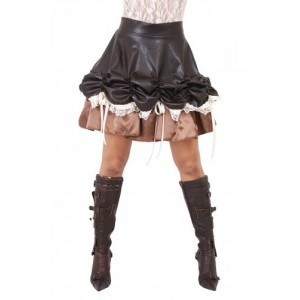 AGGY ROUCHED SKIRT