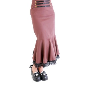 COMPASS STEAMPUNK HOBBLE SKIRT