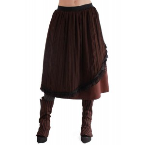 COMPASS PLEAT SKIRT