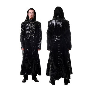 Men Spring Glip Coat Gloss