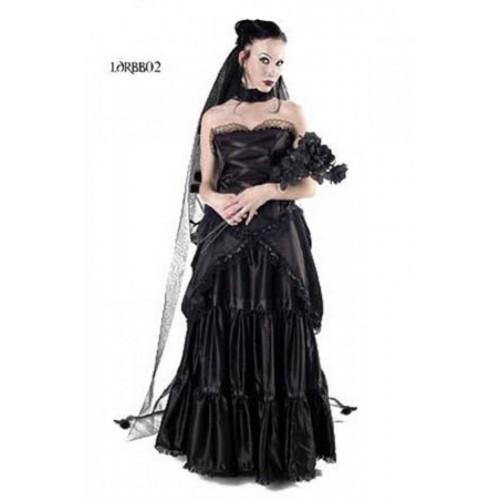 New Style Black Gothic Plus Sizes Wedding Dresses With: Bitter Beauty Wedding Dress Black