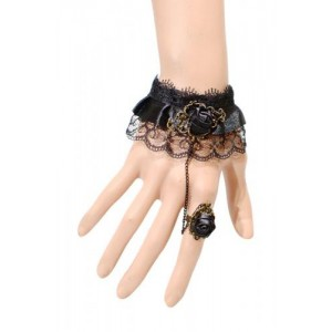 BLACK ROSE LACE BRACELET