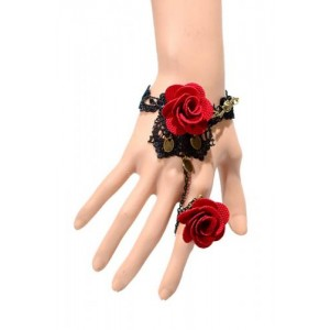 RED ROSE LACE BRACELET