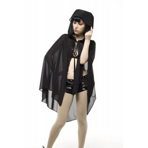 GOMMA HOODED CAPE