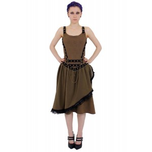 VERNE STEAM PLT SKIRT DRESS