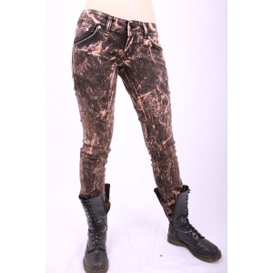 Acid Wash Low Rider Skinny Jeans