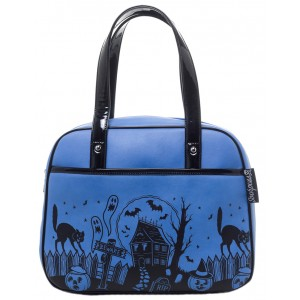 SOURPUSS HAUNTED HOUSE BOWLER PURSE