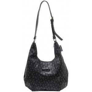 SOURPUSS LUST FOR SKULLS HOBO PURSE