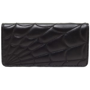 SOURPUSS SPIDERWEB WALLET BLACK