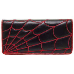 SOURPUSS SPIDERWEB WALLET RED