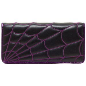 SOURPUSS SPIDERWEB WALLET PURPLE