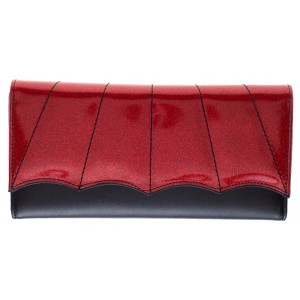SOURPUSS BAT WING WALLET RED