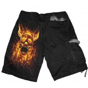 BURN IN HELL Vintage Shorts Blk