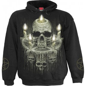 WAXED SKULL - Hoody Black