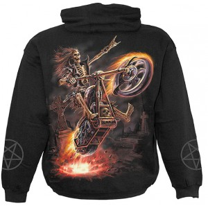 HELL RIDER Kids Hooded SS Blk