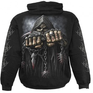 GAME OVER Kids Hooded SS Blk