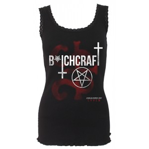 COVEN - BITCHCRAFT - AHS Crochet Collar Ribbed Vest