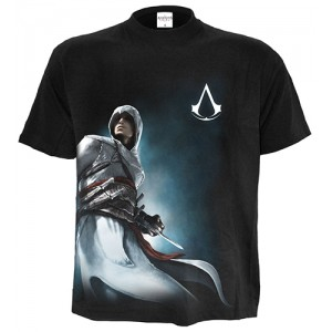ALTAIR SIDE PRINT - Assassins Creed T-Shirt Black