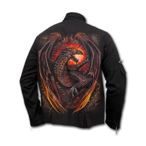 DRAGON FURNACE Jkt Orient Goth Mens Blk