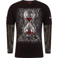 SANDS OF DEATH - Mesh Sleeve Zip Shoulder Long Sleeve Mens