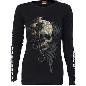 DARK ANGEL - Buckle Cuff Long Sleeve Top