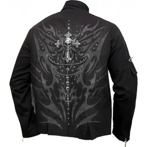 TRIBAL CHAIN - Orient Goth Jacket Black