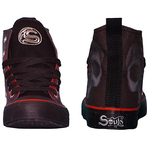 879a6fd35c68 BLOOD ROSE - Sneakers - Ladies High Top Laceup - Black Rose