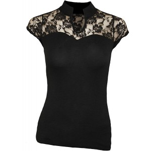 F High Neck Lace Corset Top