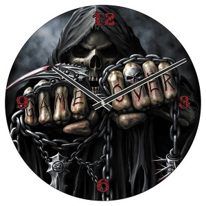 BEAST WITHIN Clocks Round Glass 35cm