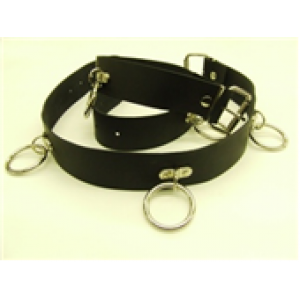 51MM WIDE SID RING & D-PLATE LEATHER BELT