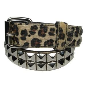 Stylex Leopard pyramid stud belt