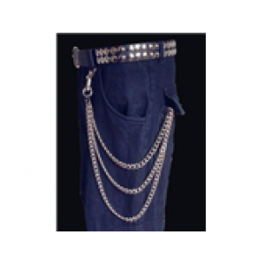 3 ROW CURB HANGING WALLET CHAIN