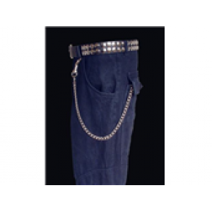 46CM LONG MEDIUM CURB WALLET CHAIN