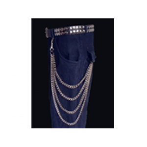 4 ROW HANGING WALLET CHAIN