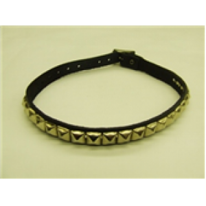 1 ROW SMALL PYRAMID STUDDED LEATHER NECKBAND