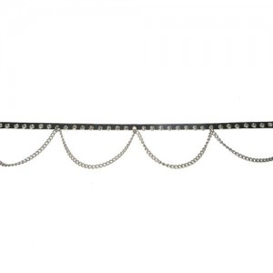 1 ROW SPIKE BELT WITH CHAIN