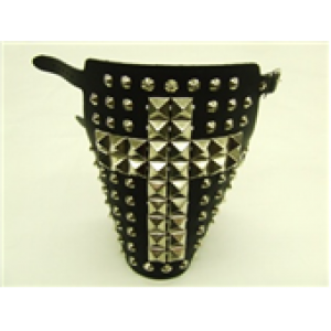 PYRAMID AND CONE CROSS DESIGN STUDDED ARMBAND