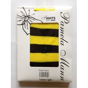 Black / Yellow striped Pamela Mann Tights