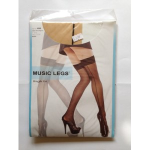 music leg natural skin colour back line stockings