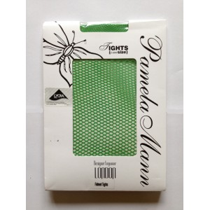 pamela mann green fishnet tights