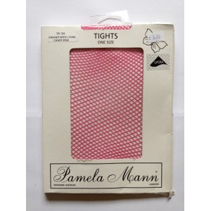 pamela mann baby pink fishnet tights