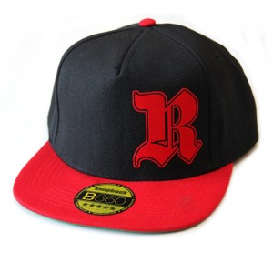 Rednek Snapback - Gothic R Snap (Black-Red)