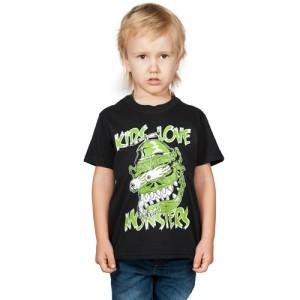 T-Shirt - Kids Love Monsters (Black)