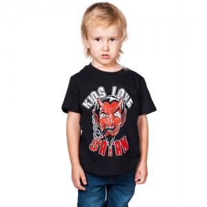 T-Shirt - Kids Love Satan (Black)