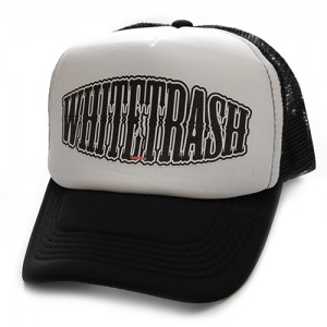 Toxico Trucker Hat - Whitetrash (Black-White)